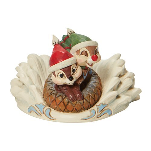 Disney Traditions Chip and Dale Sledding Saucer Fun in the Snow by Jim Shore Statue