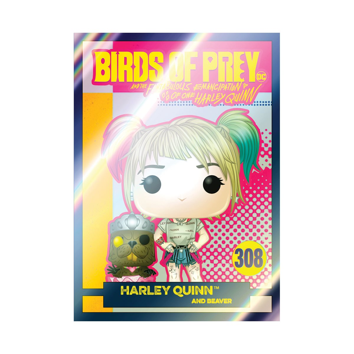 Birds Of Prey Harley Quinn With Beaver Pop Vinyl Figure With Collectible Card Entertainment Earth Exclusive Entertainment Earth