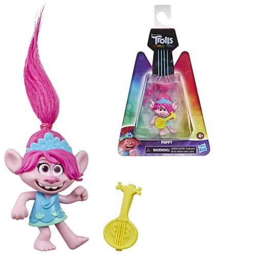 Trolls World Tour Poppy Small Dolls Collectible Figure, Not Mint