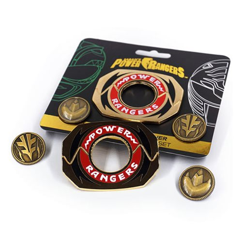 Mighty Morphin Power Rangers Legacy Power Morpher Pin Set - Green/White Edition
