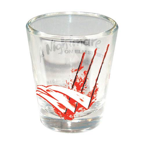 Nightmare on Elm Street Freddy Scratches Shot Glass