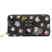 Harry Potter Chibi Character Print Zip-Around Wallet