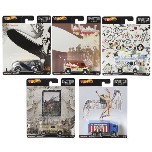 Hot Wheels Pop Culture Led Zeppelin 2020 Mix 1 Vehicles Case