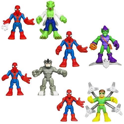Green Goblin 2 Figuren Playskool Heroes Marvel SPIDERMAN Adventures Spider-Man