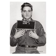 Elvis Presley Enlistment Photo Tin Sign