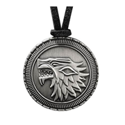 Game of Thrones Stark Direwolf Shield Replica Pendant Necklace