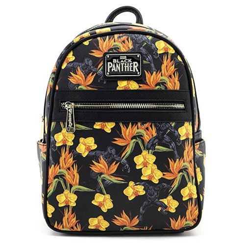 Black Panther Floral Mini-Backpack