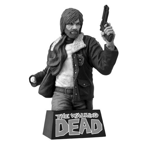 The Walking Dead Black and White Rick Grimes Bust Bank