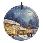 National Lampoon's Christmas Vacation Thomas Kinkade StarFire Prints Hanging Glass Ornament
