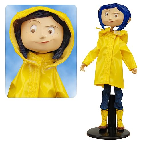 Coraline Raincoat Bendy Doll Entertainment Earth