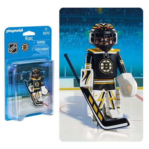 Playmobil 5072 NHL Boston Bruins Goalie Action Figure