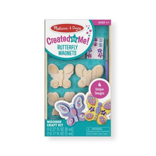 Melissa & Doug Created by Me! Butterfly Magnets Wooden Craft Kit