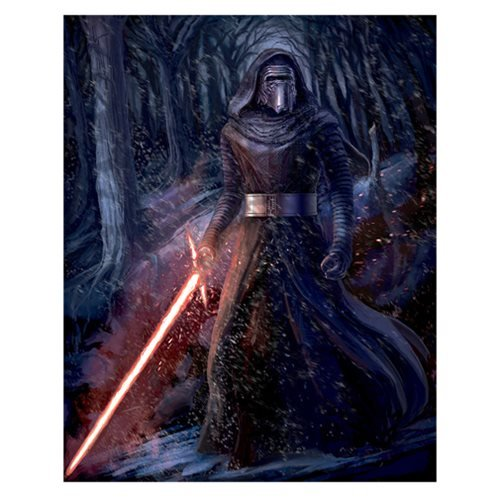 Star Wars: The Force Awakens Dark Warrior by Julian Vidales Canvas Giclee Art Print