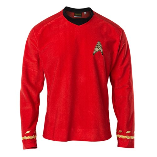 Star Trek the Original Series 50th Anniversary Operations Red Velour Line Tunic