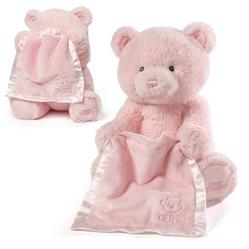 My First Teddy Peek a Boo Pink Animated Plush