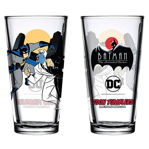 Batman: The Animated Series Batman vs. Two Face Toon Tumbler Pint Glass