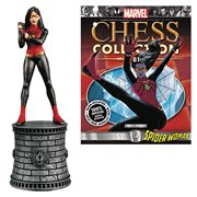 Marvel Spider-Woman White Bishop Chess Piece with Collector Magazine #81