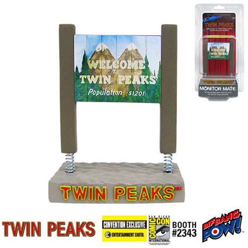 Twin Peaks Welcome to Twin Peaks Sign Monitor Mate Bobble - Convention Exclusive