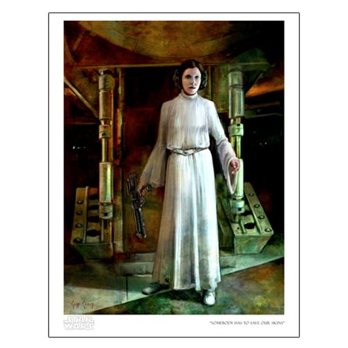 Star Wars Somebody Has to Save Our Skins by Cliff Cramp Paper Giclee Art Print