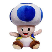 Super Mario Bros. Blue Toad 7-Inch Plush