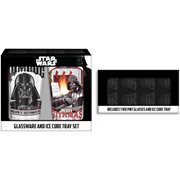 Star Wars Darth Vader Holiday Pub Glasses 2-Piece Set with Ice Tray
