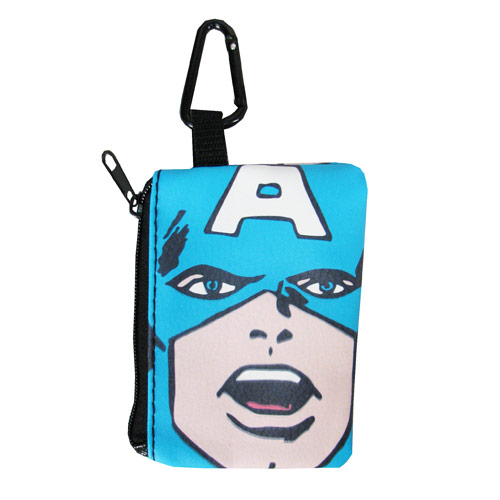 Captain America Coin/Card Case Key Chain