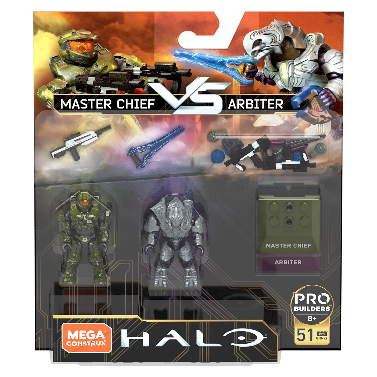 MEGA BLOKS+Construx HALO PRO BUILDERS SERIES WAVE 10 MINI FIG Master Chief NEW