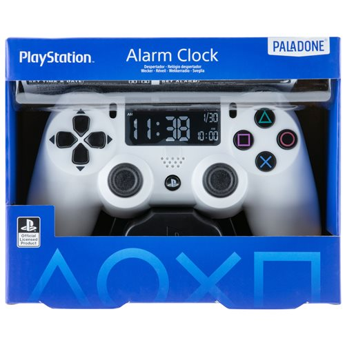 PlayStation White Controller Alarm Clock