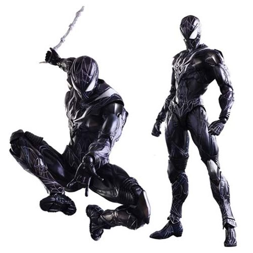 Marvel Universe Spider-Man Black Variant Play Arts Kai Action Figure
