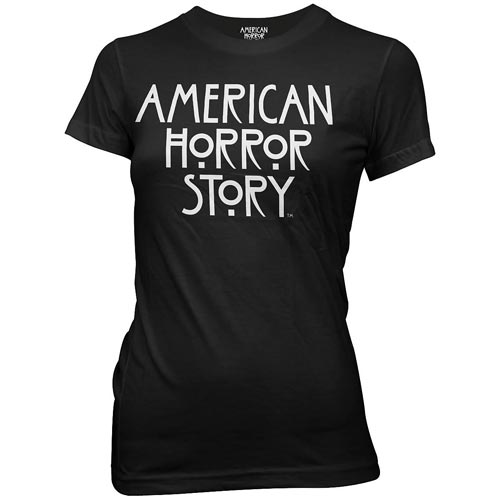 American Horror Story Logo Black Juniors T-Shirt