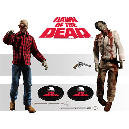 MEZCO ONE 12 COLLECTIVE Dawn of the Dead Boxed 6 inch figure Set NEW IN STOCK