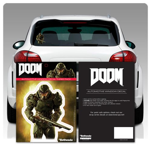 Doom Marine Window Decal