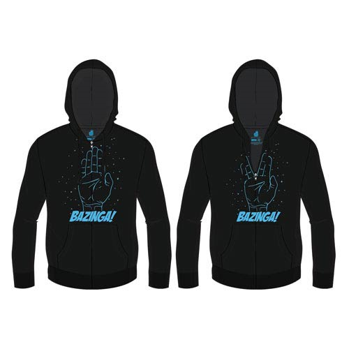 Big Bang Theory Spock Bazinga! Zip-Up Hoodie