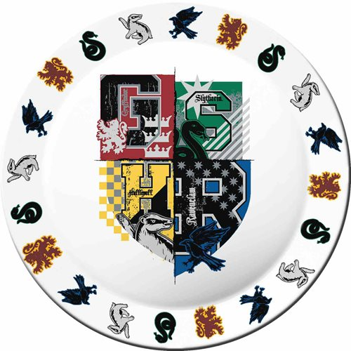 Harry Potter Hogwarts Crest Melamine Plate Set of 4
