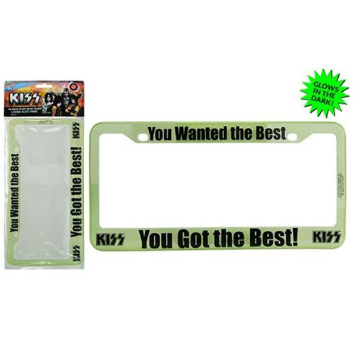 KISS You Wanted the Best You Got the Best License Plate Frame