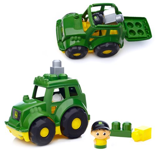 Mega Bloks First Builders John Deere Lil' Tractor Vehicle