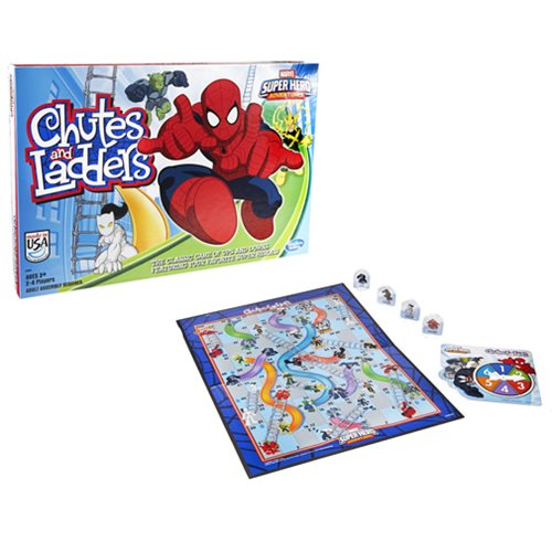 Spider-Man Web Warriors Chutes & Ladders Game