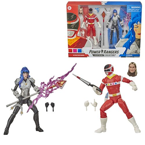 Power Rangers Lightning Collection 6-Inch In Space Red Ranger and Astronema Action Figure Battle Pack