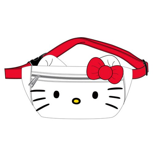 Hello Kitty Faux Leather Face Fanny Pack