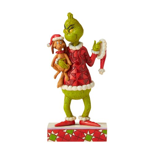 Dr. Seuss The Grinch Holding Max Under Arm Statue by Jim Shore