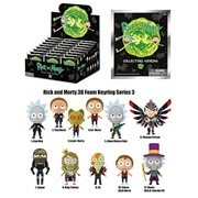 Rick and Morty Series 3 Figural Key Chain Random 4-Pack