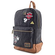 Mickey Mouse Patches Denim Backpack