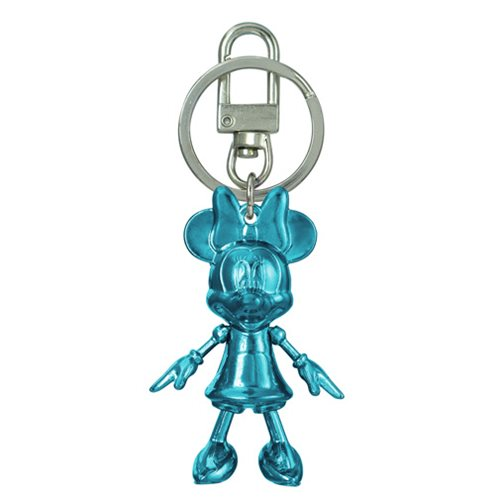 Minnie Mouse December Turquois Pewter Dangle Key Chain