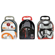 Star Wars Force Awakens Arch Carry All Tin Tote Lunch Box Set