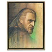 Star Wars Timeless Series Qui-Gon Jinn by Jerry Vanderstelt Framed Canvas Giclee Art Print