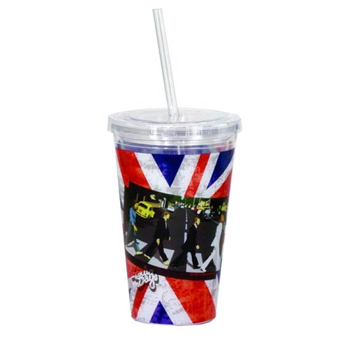 The Beatles Abbey Road 16 oz. Travel Cup with Straw