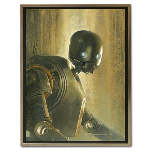Star Wars Timeless Series K-2SO by Jerry Vanderstelt Framed Canvas Giclee Art Print