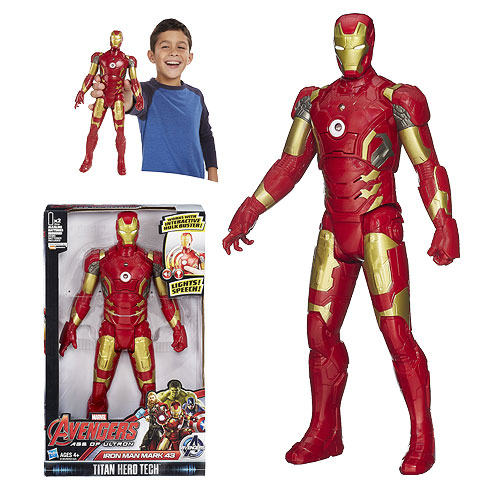 Avengers: Age of Ultron Titan Hero Tech Interactive Electronic Iron Man Mark 43 Action Figure