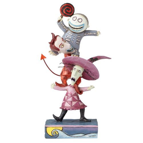 Disney Traditions Nightmare Before Christmas Lock, Shock, and Barrel Triple Trouble Statue