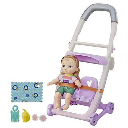Baby Alive Littles Roll and Kick Stroller Doll - Blonde Hair